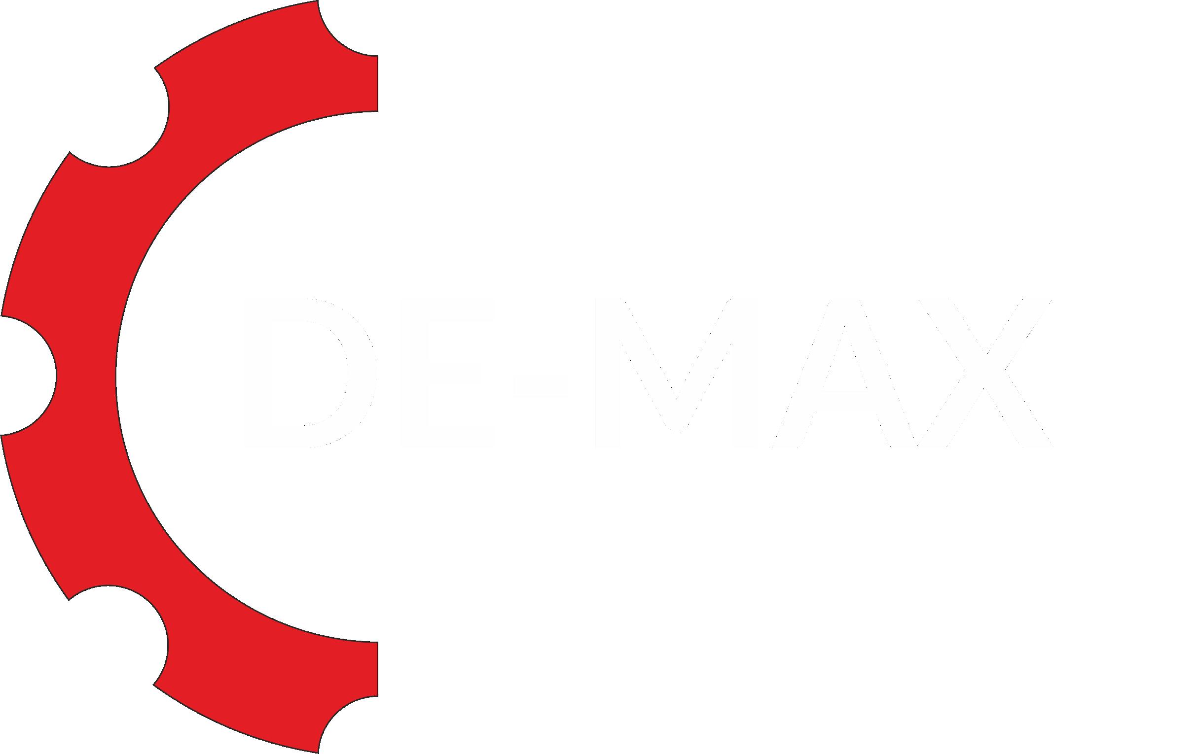 DE-max – wyważanie przemysłowe, spawalnictwo, gięcie blach, cięcie plazmowe Logo